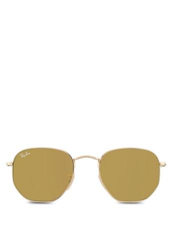 Ray-Ban gold Hexagonal Flat Lenses RB3548N Sunglasses RA896GL29UTQMY_1