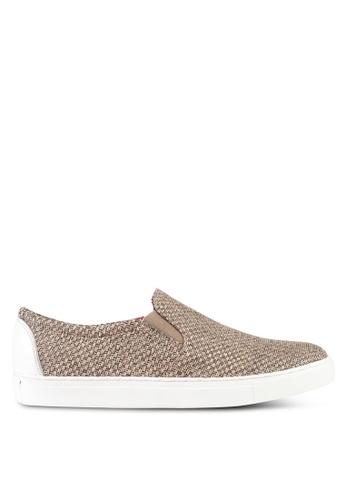 ACUTO white Leather Slip On Sneakers AC283SH0SL7RMY_1