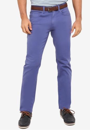 Brooks Brothers blue Red Fleece Stretch Cotton 5 Pocket Pants 1E93EAA8579C62GS_1
