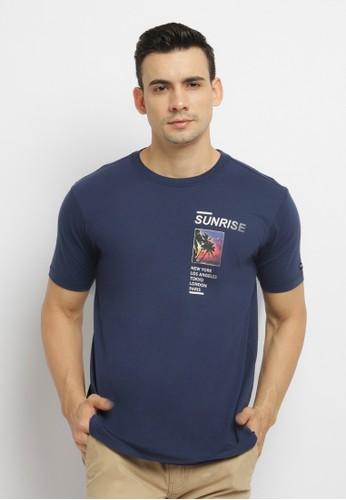 Osella navy Osella Baju Pria Tshirt Print Navy CFA0CAA51B7E52GS_1