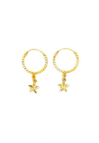 KARAT WORLD gold 18Kt Yellow Gold Earring B5931AC00F428BGS_1
