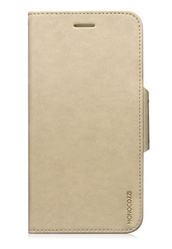 Monocozzi beige Lucid Folio Leather Hard Flip Folio for iPhone 6 Plus MO983AC57BXIHK_1