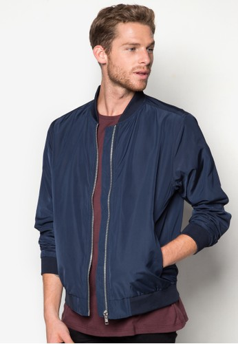 Navy Bomber Jacket, 服飾, esprit官網輕薄外套
