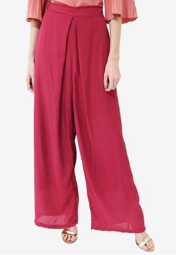 UNAROSA red Diandra Pants B7E1BAA6D0E3A6GS_1