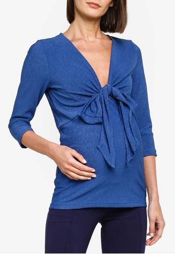 Mama.licious blue Maternity Alvira Tess 3/4 Jersey Top 7CDEEAAE638BCCGS_1
