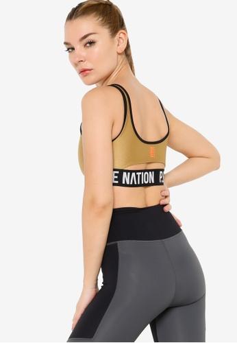 P.E Nation brown Goal Side Sports Bra 3C799US6D26FD3GS_1