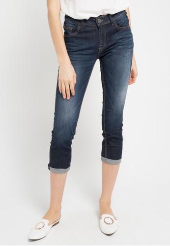 Miyoshi Josei blue 41Rb Cropped Jeans MI116AA0WEXYID_1