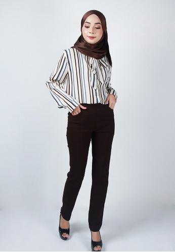 Ladies Jeans brown Muslimah Stylish Long Pants 6C49BAA26EAF5FGS_1