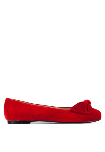 Velvet red Velvet Ballerinas with Bow DA8FEZZ34726D9GS_1
