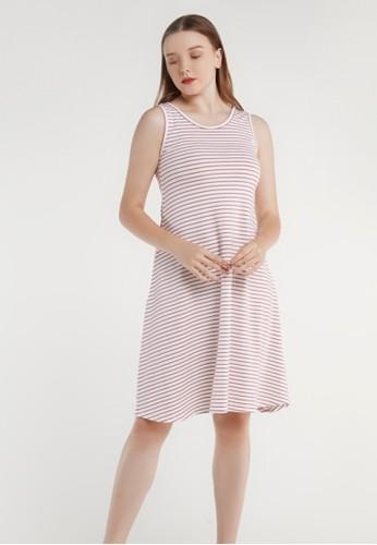 Tahlia red Tahlia Basic Cotton Dress Daster Piyama Kaos B2FF3AABC30713GS_1