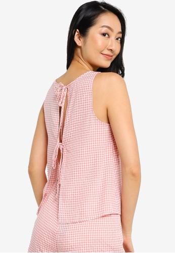 ZALORA BASICS pink Lounge Open Back Pyjama Top C97C0AA361E180GS_1