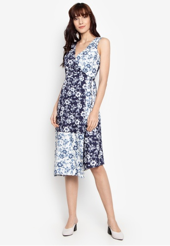 a8abf9ce77 Shop WAREHOUSE Mixed Willow Cotton Wrap Dress Online on ZALORA Philippines