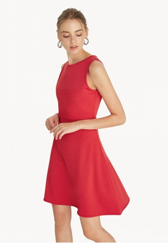 0b58764f8daf Pomelo red Mini Flared Skater Dress - Red 2F158AAB088B77GS 1
