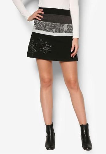 Pisa 撞色短裙、 服飾、 服飾DesigualPisa撞色短裙最新折價
