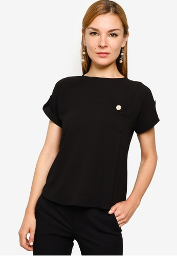 ZALORA WORK black Pocket Detail Top C4E4FAA3EFAAC3GS_1