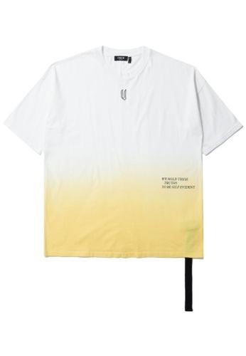 Fivecm white Anti-Gravity dip dye tee 30751AA7F27562GS_1