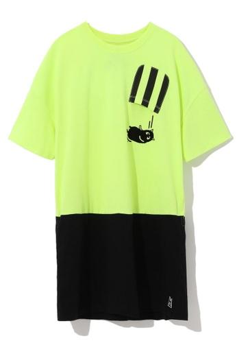 Mini cream yellow Stripe patch pocket tunic 506EEAA264B967GS_1