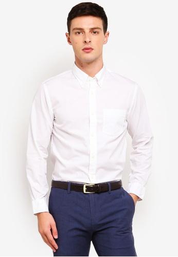 Brooks Brothers 白色 長袖襯衫 E1CB8AA459F91AGS_1