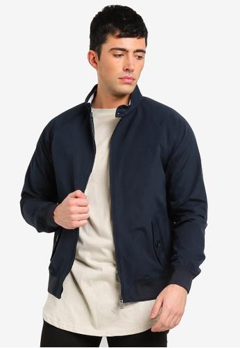 Burton Menswear London navy Navy Harrington Jacket CDCE3AAEE1465EGS_1