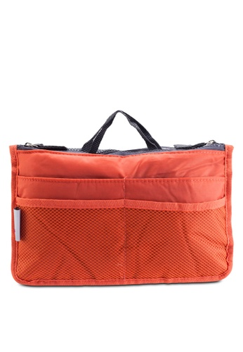 Bagstationz orange Bagstationz Premium Lightweight and Water-Resistant Multi-Compartment Bag-In-Bag Organizer BA607AC47TJGMY_1