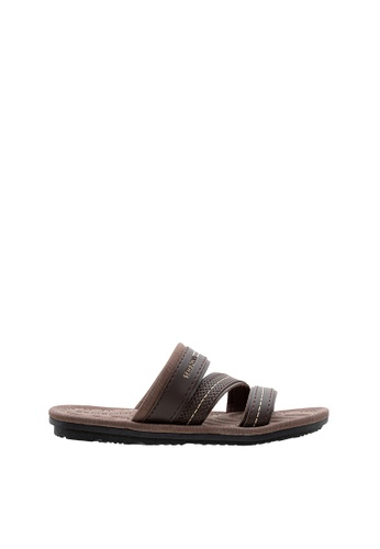 SEMBONIA brown SEMBONIA Men PU Sandal (Brown) 7AB0ESH8FFF378GS_1