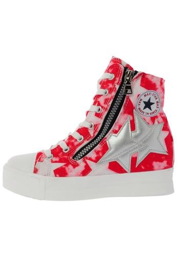 Maxstar C2 30 7 Holes Denim All White Platform High Top Sneakers US Women Size MA168SH74DLXHK_1