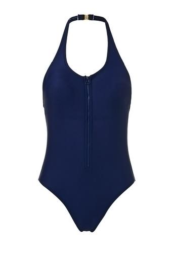 hk-ehunter blue Front Zipper Halter Swimsuit FC72DUS92C3A8BGS_1