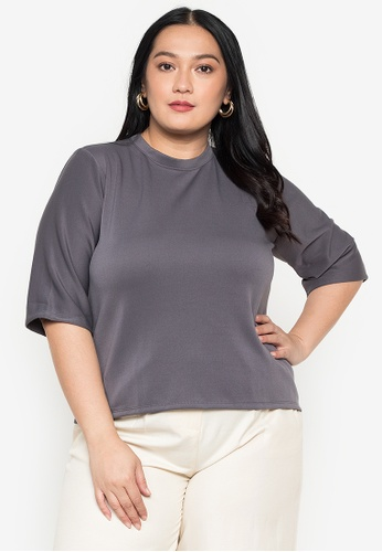 Timeless Manila grey Astraea Shirt Blouse CD520AA00D4F1DGS_1