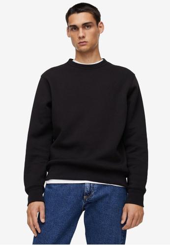 MANGO Man black Plush Cotton Sweatshirt 566F3AA480E709GS_1