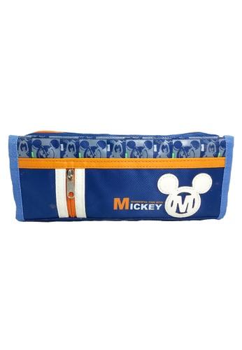 Disney Mickey blue Disney Mickey Mouse Wonderful Time Square Pencil Bag 7BF02KC56886DDGS_1