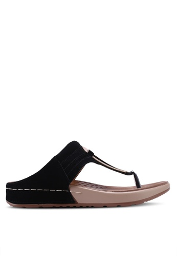 Spiffy black Soft and Comfort Series Ladies Slip-on Sandals 67C75SH896CA94GS_1