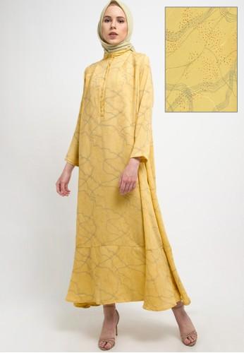 Kami for ZALORA yellow Suki Dress 8EB92AA1F00DBDGS_1