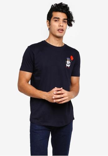 Brave Soul 藍色 刺繡T恤 98BD9AA98AF9B5GS_1
