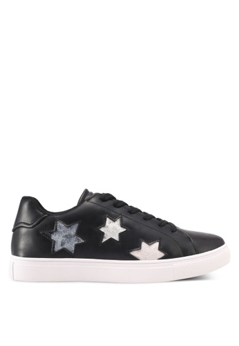 ZALORA black Star Cut Out Sneakers B2DB6SH80B0182GS_1