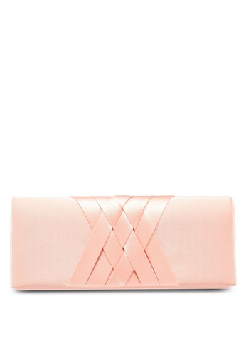 Papillon Clutch pink Braided Satin Dinner Clutch B4C7FAC7929F89GS_1