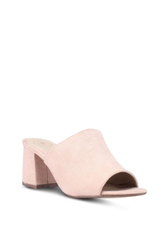 441b267e7c0a 21% OFF MISSGUIDED Mid Flared Heel Peep Toe Mules Pu S  42.90 NOW S  33.90  Sizes 4 7