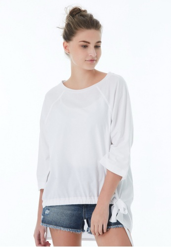United Colors of Benetton white Round Neck Top E81CEAA35970B5GS_1