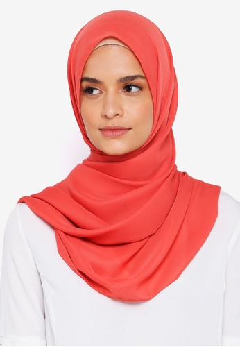 Lubna red Basic Shawl 5EFA2AA99AABE5GS_1