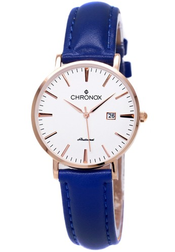 CHRONOX blue Chronox CX1002/B3  Putih - Jam Tangan Wanita - Strap Kulit Biru Rosegold BACF1AC209E846GS_1