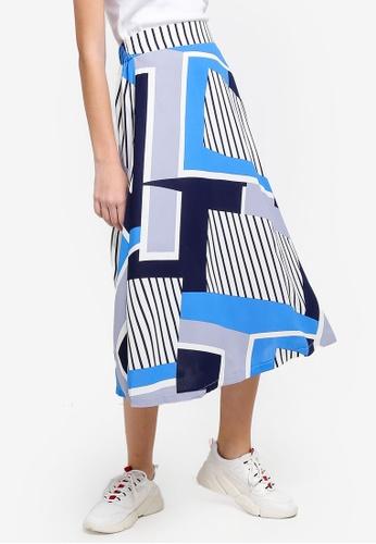 Something Borrowed blue Swing Circle Skirt 9F2D0AA374DA7EGS_1