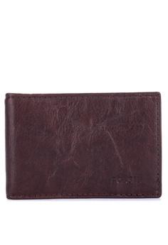 8e0092864e25 Fossil brown Derrick Money Clip Bifold Wallet 3C3C3ACA7223ADGS 1