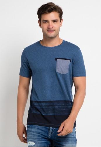Cressida blue Print Tee With Contrast Pocket CR235AA0VBUEID_1