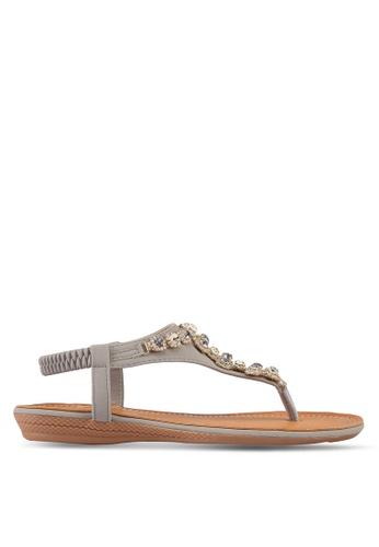 Mimosa grey T-Strap Sandals F239ESH6E4B998GS_1