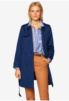 8bf4a45299573 ESPRIT navy Regular Woven Coat 9AC20AAC8516CEGS 1