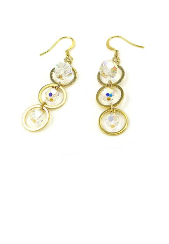 Glamorousky silver Trendy Earring swith Austrian Element Crystals F6701AC7AC620DGS_1