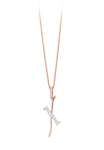 HABIB JEWELS HABIB Corsiva-X Alphabet Diamond Necklace 04573AC8A75A2CGS_1