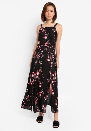 ZALORA black Printed Maxi Dress AEC50AAB7C376DGS_1