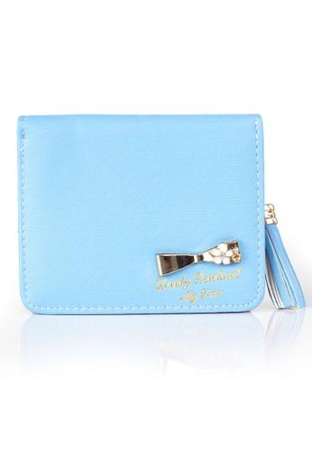 VERNYX - Woman's Simple Short Wallet DO447 Blue - Dompet Pendek Wanita
