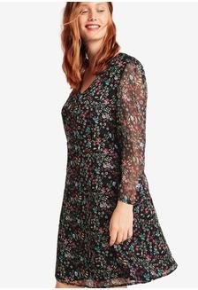a59e349a0493d Plus Size Floral-Print Flowy Dress 91202AA7211581GS 1