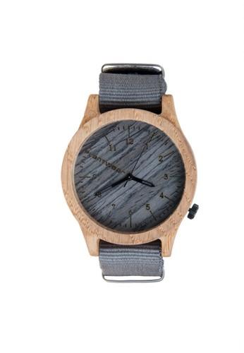傳esprit outlet 高雄承系列銀石灰橡木錶, 錶類, 紳士錶
